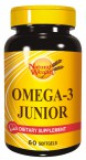 Natural Wealth Omega 3 Junior, 60 mehkih kapsul