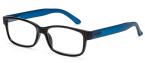 Filtral bralna očala F45560 (+1,0), črna - modra