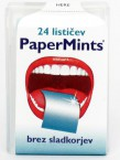 Papermints osvežilni lističi z okusom mete, s sladili,  24 lističev