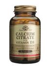 Solgar Kalcijev Citrat z dodanim Vitaminom D, 60 tablet