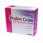 Brufen Gran 400 mg šumeča zrnca, 12 vrečk