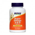 NOW Super Omega 3-6-9 1200 mg, 90 mehkih kapsul