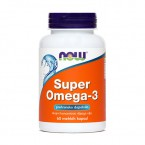 NOW Super Omega-3 1000 mg, 60 mehkih kapsul
