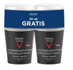 Vichy Deo Homme Antiperspirant roll-on 72 ur, 2 x 50 ml