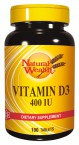 Natural Wealth Vitamin D3 10 µg, 100 tablet