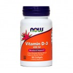 NOW Vitamin D-3 10 µ oz. 400 i.e., 180 mehkih kapsul