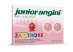 Junior-angini, pastile za otroke z okusom jagode, 24 pastil