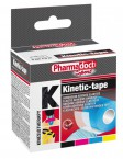 Pharmadoct, kineziološki trak 5 cm x 5 m - črn