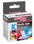 Pharmadoct, kineziološki trak 5 cm x 5 m - moder