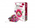 Daily Mask Kids, 3-6 let, bombažna otroška maska s 3 filtri - roza