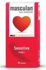 Masculan Sensitive, preservativi, 10 kosov