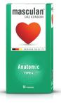 Masculan Anatomsko oblikovan, preservativi, 10 kosov