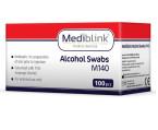 Mediblink Alkoholni robčki za pripravo kože pred injiciranjem M140, 100 alkoholnih robčkov