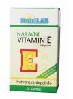 Nutrilab Naravni vitamin E, 60 kapsul