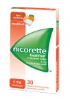Nicorette Freshfruit 4 mg - z okusom sadja, 30 zdravilnih žvečilnih gumijev