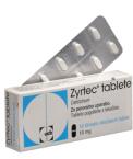 Zyrtec 10 mg, 10 filmsko obloženih tablet