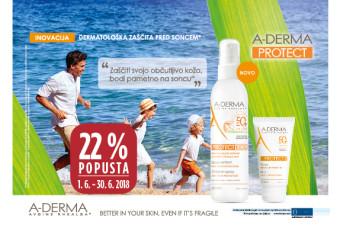 A-Derma Protect 22 % ugodneje v juniju