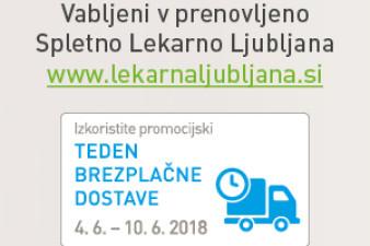 Teden brezplačne dostave v Spletni Lekarni Ljubljana