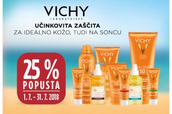 Vichy Ideal Soleil 25 % ugodneje v juliju