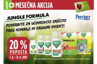 Jungle Formula 20 % ugodneje v mesecu avgustu