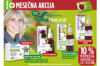 Izbrani izdelki Soria Natural 10 % ugodneje v mesecu decembru