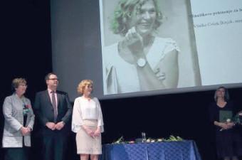 Vladka Češek Bizjak prejemnica Minařikovega priznanja za leto 2017