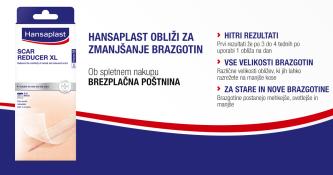 Brezplačna dostava ob nakupu Hansaplast obližev za zmanjšanje brazgotin