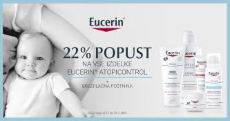 22 % popusta na izdelke Eucerin AtopiControl