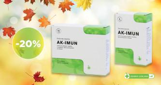 Prehransko dopolnilo AK-Imun 20 % ugodneje