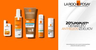 La Roche-Posay Anthelios izdelki 20 % ugodneje