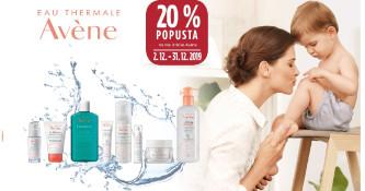 20 % popusta na vse izdelke Avene