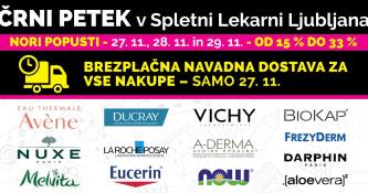 Črni vikend v Spletni Lekarni Ljubljana