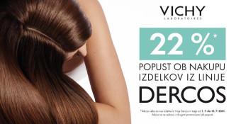 Vichy Dercos 22 % ugodneje