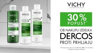 Vichy Dercos proti prhljaju 30 % ugodneje