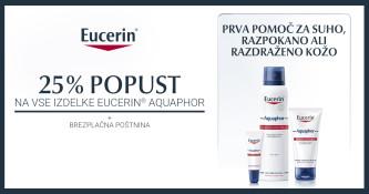 25 % popusta na izdelke Eucerin Aquaphor