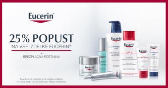 25 % popusta na vse izdelke Eucerin