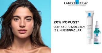 Linija La Roche-Posay Effaclar 20 % ugodneje