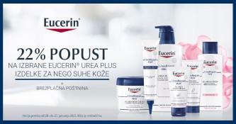 22 % popusta na izdelke Eucerin UreaRepair Plus