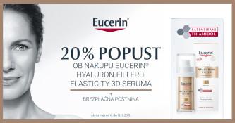 20 % popusta na Eucerin Hyaluron-Filler + Elasticity 3D serum