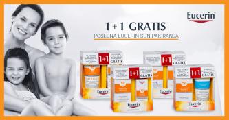 Eucerin Sun 1+1 gratis