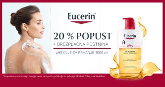 20 % popusta na Eucerin pH5 olje za prhanje