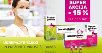 15 % popusta na vse izdelke Imunoglukan