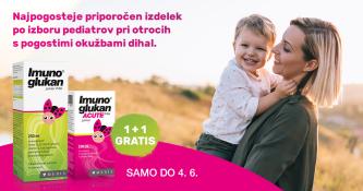 Ob nakupu Imunoglukan P4H Junior sirup, 250 ml prejmete 100 ml gratis