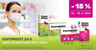 Imunoglukan 15 % ugodneje