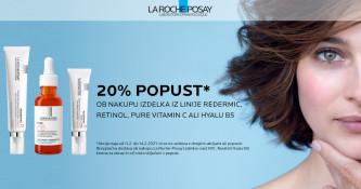 La Roche-Posay Redermic, Vitamin Pure C in Hyalu B5 20 % ugodneje