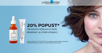 20 % popusta na La Roche-Posay Redermic linijo ali Pure Vitamin C