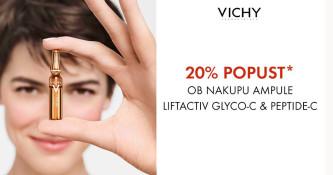 Ampule Vichy Liftactiv Glyco-C in Peptide-C 20 % ugodneje