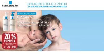 Izdelki Lipikar in Cicaplast 20 % ugodneje