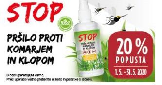 Stop pršilo proti komarjem in klopom 20 % ugodneje