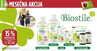 Izbrani izdelki Biostile 15 % ugodneje v mesecu februarju